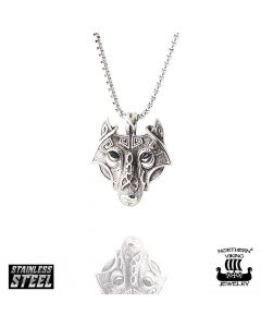 Northern Viking Jewelry Guardian Wolf -kaulakoru NVJRS048