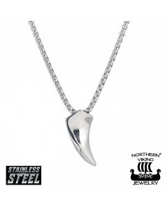 Northern Viking Jewelry Fenrir Wolf Tooth -kaulakoru 55cm NVJRS024