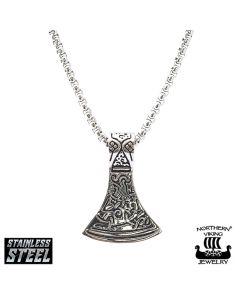 Northern Viking Jewelry Axehead- kaulakoru NVJRS012 (50cm)