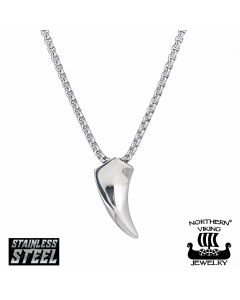 Northern Viking Jewelry Fenrir Wolf Tooth 60cm -kaulakoru NVJRS024