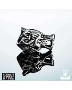Northern Viking Jewelry Wolf Head -partakoru NVJHE009
