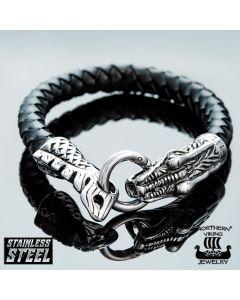 Northern Viking Jewelry Dragon Head -rannekoru NVJRA002