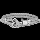 Paul Hewitt Leather Phrep Anchor Silver Grey -rannekoru (XXL) PH-PH-L-S-Gr-XXL